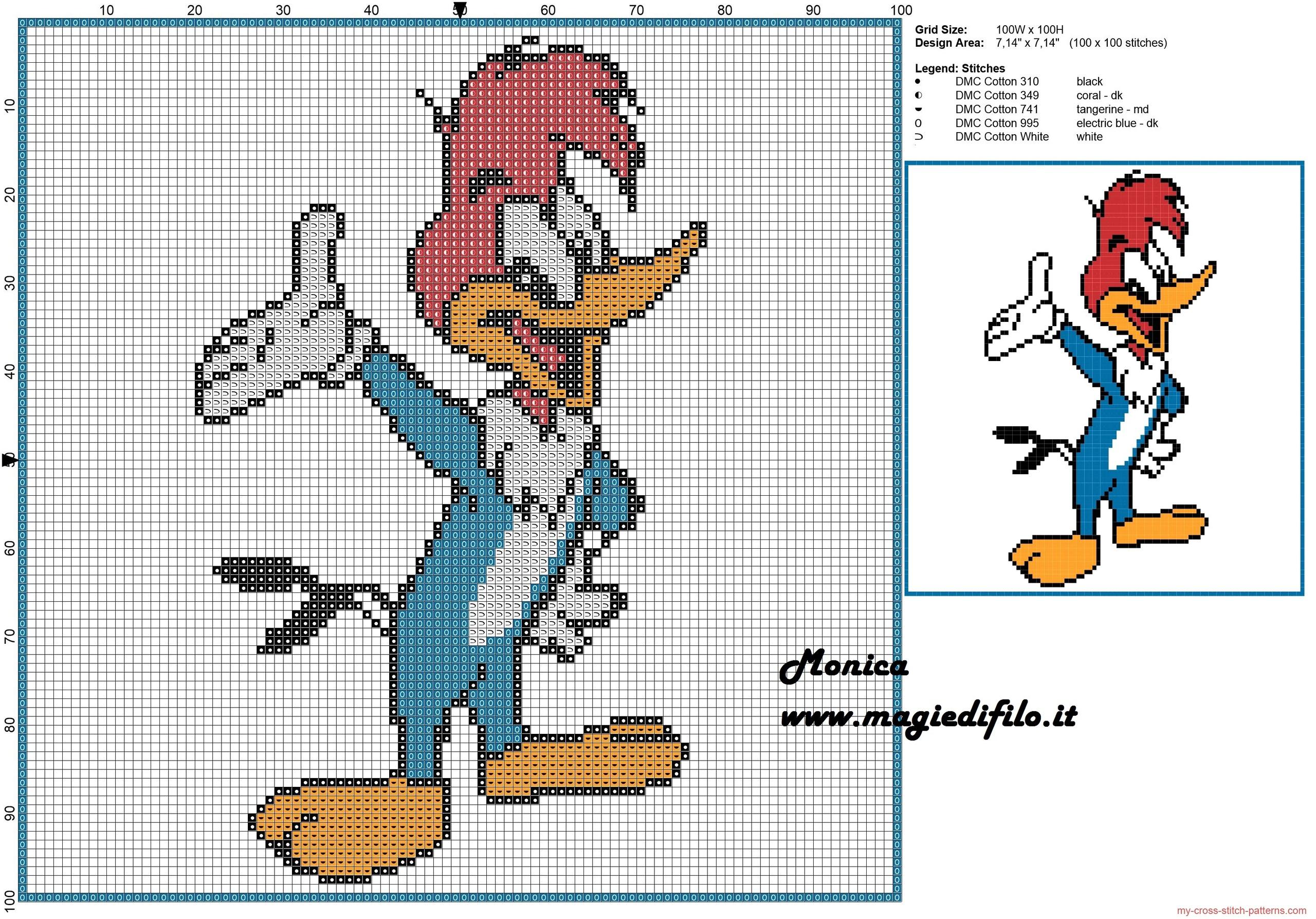 woody_woodpecker_cross_stitch_pattern_