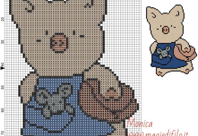 zashikibuta_and_taddy_3_cross_stitch_pattern_