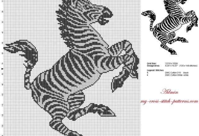 zebra_of_juventus_football_club_cross_stitch_pattern_130_x_148
